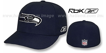 Seahawks 'COACHES' Fitted Hat by Reebok - navy