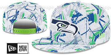 Seahawks 'GEOMET TRICK SNAPBACK' Hat by New Era