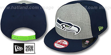 Seahawks 'HEATHER-REFLECT SNAPBACK' Grey-Navy Hat by New Era