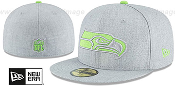 Seahawks 'HEATHER TEAM-BASIC' Light Grey Fitted Hat by New Era