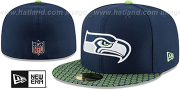 Seahawks 'HONEYCOMB STADIUM' Navy Fitted Hat by New Era