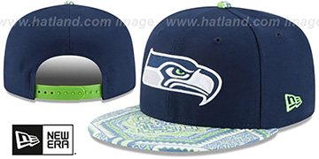 Seahawks 'KALEIDOVIZE SNAPBACK' Navy Hat by New Era