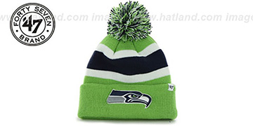 Seahawks 'NFL BREAKAWAY' Lime Knit Beanie Hat by 47 Brand