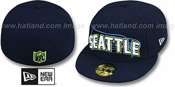 Seahawks 'NFL ONFIELD DRAFT' Navy Fitted Hat by New Era