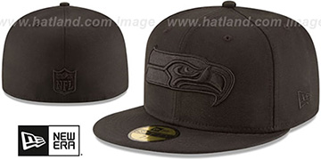 Seahawks NFL TEAM-BASIC BLACKOUT Fitted Hat by New Era