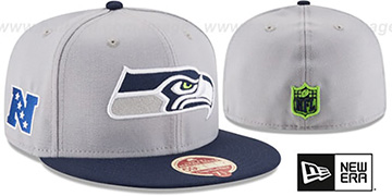 Seahawks NFL WOOL-STANDARD Grey-Navy Fitted Hat by New Era