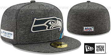 Seahawks ONFIELD CRUCIAL CATCH Grey Fitted Hat by New Era