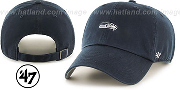 Seahawks 'POLO STRAPBACK' Navy Hat by Twins 47 Brand