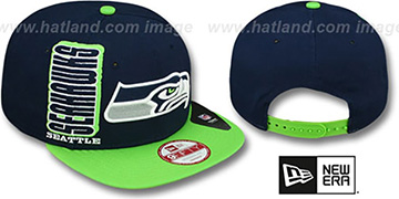Seahawks 'RALLYMARK SNAPBACK' Navy-Green Hat by New Era