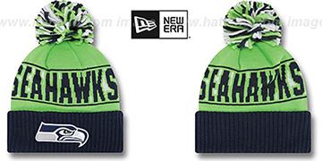 Seahawks REP-UR-TEAM Knit Beanie Hat by New Era