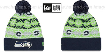 Seahawks RETRO CHILL Knit Beanie Hat by New Era