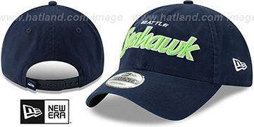 Seahawks RETRO-SCRIPT SNAPBACK Navy Hat by New Era
