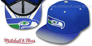 Seahawks 'STOP-ON-A-DIME SNAPBACK' Royal-Grey Hat by Mitchell and Ness