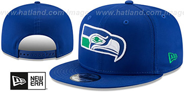 Seahawks TEAM-BASIC SNAPBACK Royal Hat by New Era