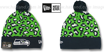 Seahawks 'WINTER-JUNGLE' Knit Beanie Hat by New Era