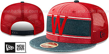 Senators COOP HERITAGE-BAND TRUCKER SNAPBACK Red-Navy Hat by New Era