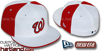 Senators COOPERSTOWN PINWHEEL White-Red Fitted Hat