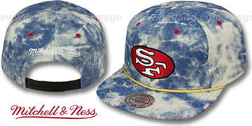 SF 49ers 'ACID-WASH SNAPBACK' Blue Hat by Mitchell and Ness