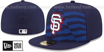 SF Giants '2015 JULY 4TH STARS N STRIPES' Hat by New Era