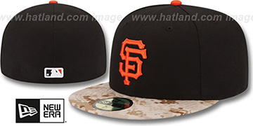 SF Giants 2015 STARS N STRIPES Fitted Hat by New Era