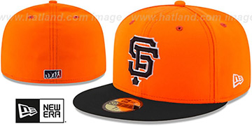 SF Giants 2017 MLB LITTLE-LEAGUE Orange-Black Fitted Hat by New Era