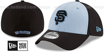 SF Giants 2018 FATHERS DAY FLEX Sky-Black Hat by New Era