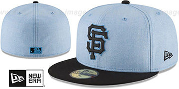 SF Giants '2018 FATHERS DAY' Sky-Black Fitted Hat by New Era