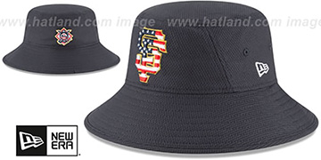 SF Giants 2018 JULY 4TH STARS N STRIPES BUCKET Navy Hat by New Era