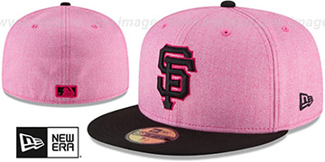 SF Giants '2018 MOTHERS DAY' Pink-Black Fitted Hat by New Era