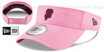 SF Giants 2018 MOTHERS DAY VISOR Heather Pink by New Era