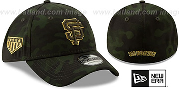 SF Giants 2019 ARMED FORCES STARS N STRIPES FLEX Hat by New Era