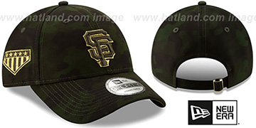 SF Giants 2019 ARMED FORCES STARS N STRIPES STRAPBACK Hat by New Era