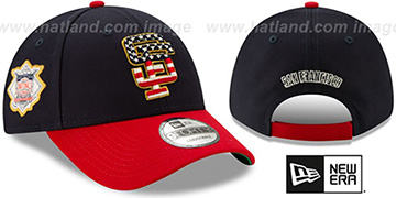 SF Giants 2019 JULY 4TH STARS N STRIPES STRAPBACK Hat by New Era