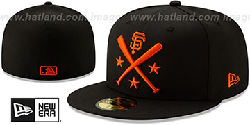 SF Giants 2019 MLB ALL-STAR ALTERNATE WORKOUT Black Fitted Hat by New Era
