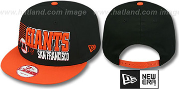 SF Giants '2T BORDERLINE SNAPBACK' Black-Orange Hat by New Era
