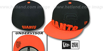 SF Giants 2T IN-DA-FACE Black-Orange Fitted Hat by New Era