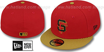 SF Giants '2T OPPOSITE-TEAM' Red-Gold Fitted Hat by New Era