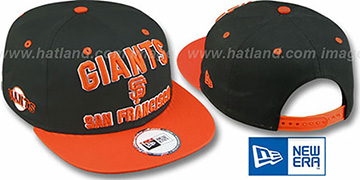 SF Giants 2T PAYDIRT SNAPBACK Black-Orange Adjustable Hat by New Era
