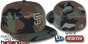 SF Giants 'ARMY CAMO' Fitted Hat by New Era