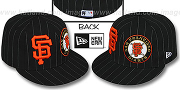 SF Giants 'BIG-ONE DOUBLE WHAMMY' Black-White Fitted Hat