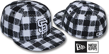 SF Giants 'BUFFALO PLAID' White-Black Fitted Hat by New Era