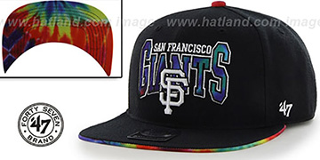 SF Giants CANNED-HEAT SNAPBACK Black Hat by Twins 47 Brand