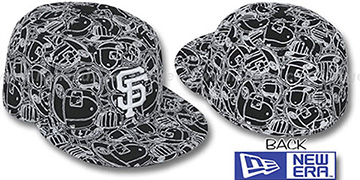 SF Giants 'CHAOS PUFFY' Black-White Fitted Hat by New Era