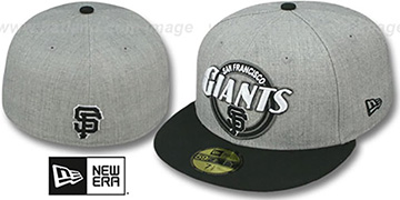 SF Giants CIRCLE-CLOSER Grey-Black Fitted Hat by New Era