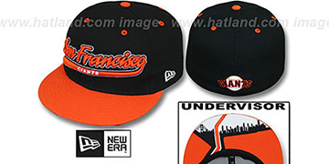 SF Giants 'CITY-SCRIPT' Black-Orange Fitted Hat by New Era
