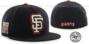 SF Giants COOP CATERPILLAR Black Fitted Hat by 47 Brand
