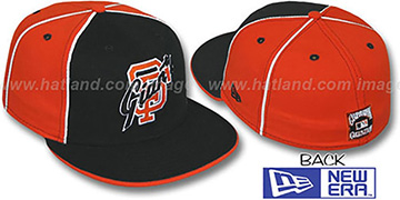 SF Giants COOP 'DECEPTOR-2 PINWHEEL' Black-Orange Fitted Hat