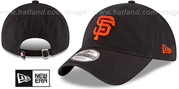 SF Giants 'CORE-CLASSIC STRAPBACK' Black Hat by New Era