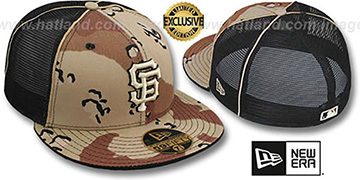 SF Giants 'DESERT STORM MESH-BACK' Fitted Hat by New Era