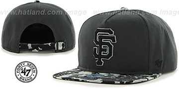 SF Giants 'DRYTOP STRAPBACK' Grey Hat by Twins 47 Brand